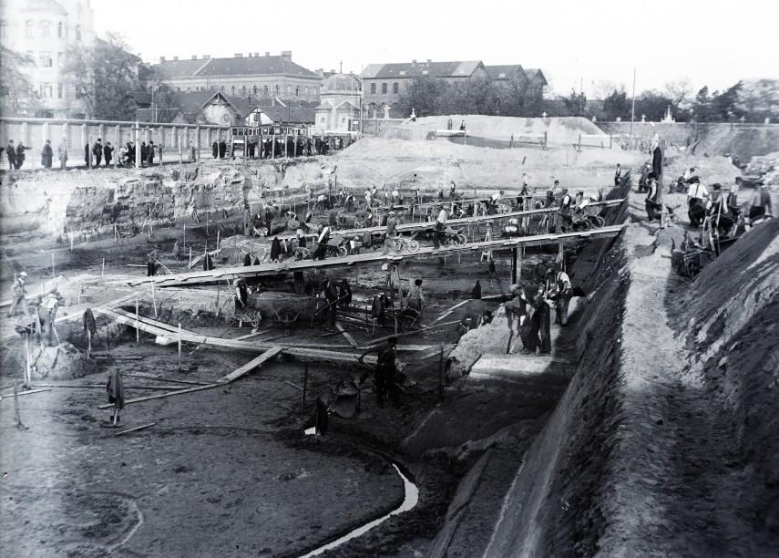 1937, Fiumei út a Gázláng utca felől, 8. kerület