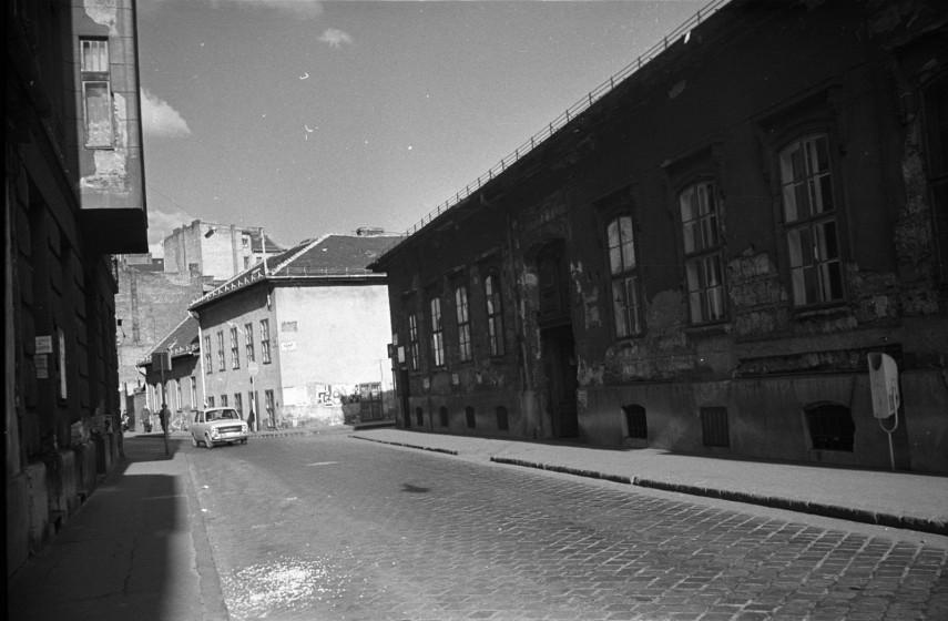 1979, Futó utca a Nap utca felé a Práter utca felől, 8. kerület