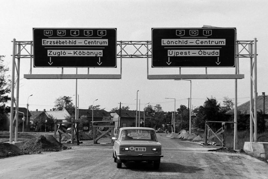 1978, az M3-as autópálya lehajtójának építése, 15. kerület