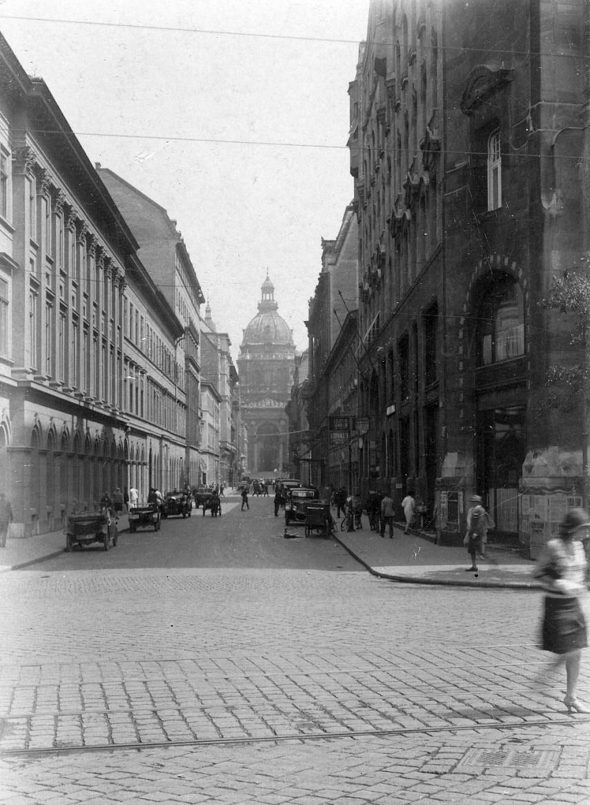 1928, Zrínyi utca a Ferenc József (Széchenyi István) tér felől, 4. (1950-től 5.) kerület