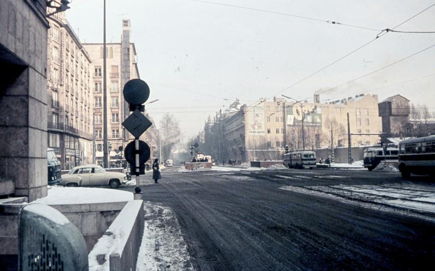 1969, Kossuth Lajos utca, a Rákóczi út felé nézve,  8. és 7. kerület