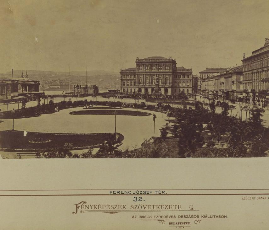 1880-as évek Ferenc József (Széchenyi István) tér, 5. kerület