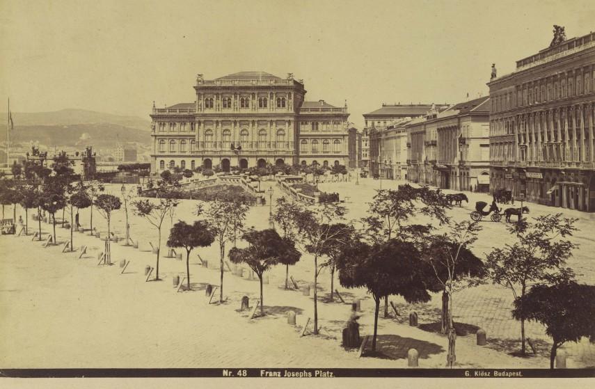 1870-es évek, Franz Joseph Platz, azaz  Ferenc József (Széchenyi István) tér, 4.(1950-től) 5.kerület