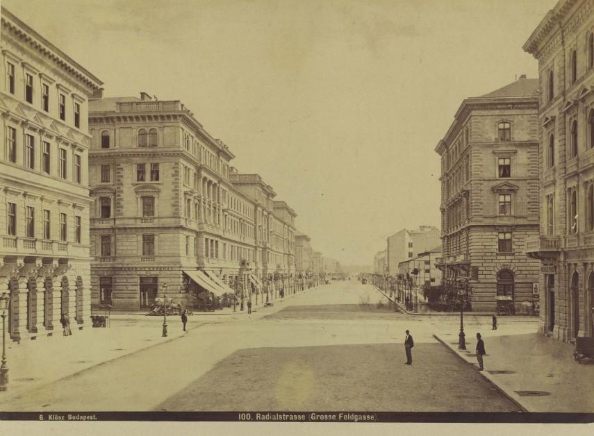 1878 táján, Sugár (Andrássy) út, 6. kerület