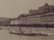 1890-es évek, a Budai alsó rakpart, 1. kerület