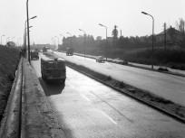 1965,  Budaörsi út a Nagyszőllős (Nagyszőlős) utca torkolata felől a Dayka Gábor utca irányába nézve, 11. kerület