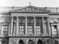 1964, Blaha Lujza tér, a Nemzeti színház homlokzata, 8. kerület