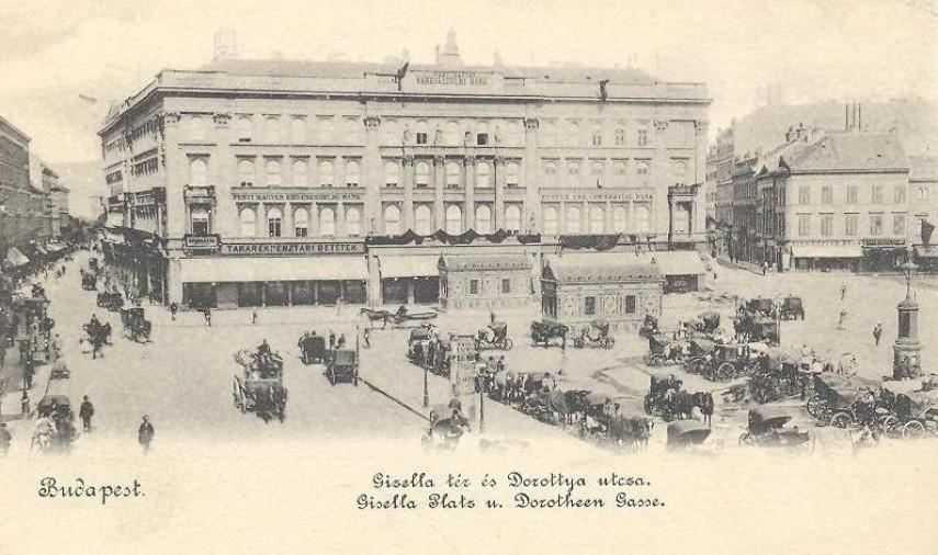 1898, Gizella (Vörösmarty) tér, 4. (1950-től) 5. kerület
