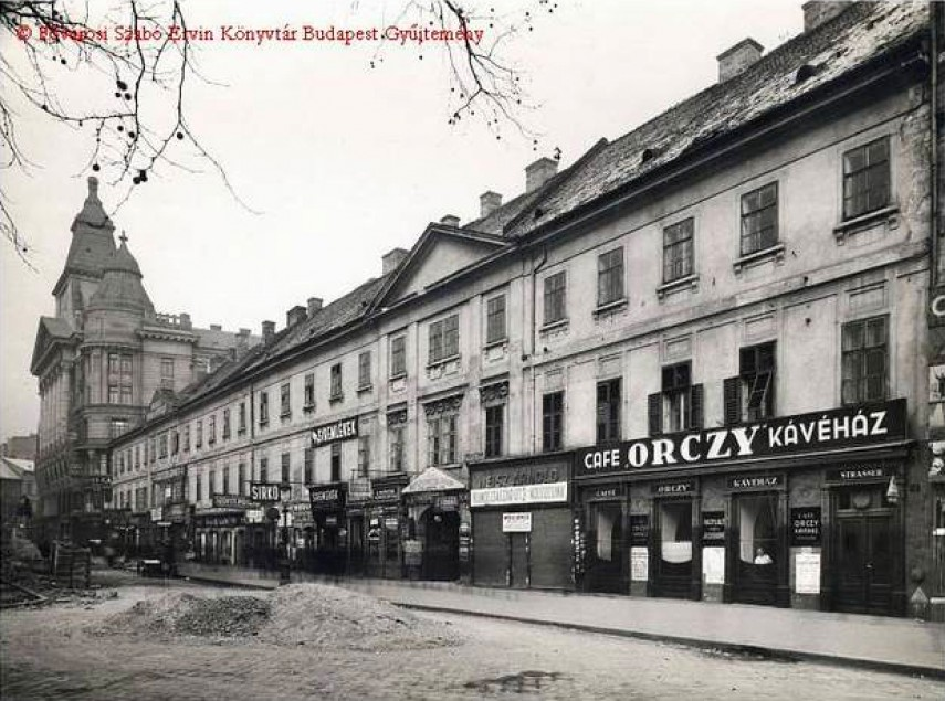 1930-as évek táján, Károly király út (Károly körút), az Orczy-ház, 7. kerület