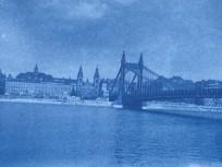 1914 táján, Eskü tér és a régi Erzsébet híd, Belváros