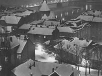 1946-1960, a Kossuth híd esti fényben, 5. kerület