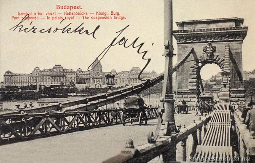 1916, a Széchenyi Lánchíd, 1.kerület
