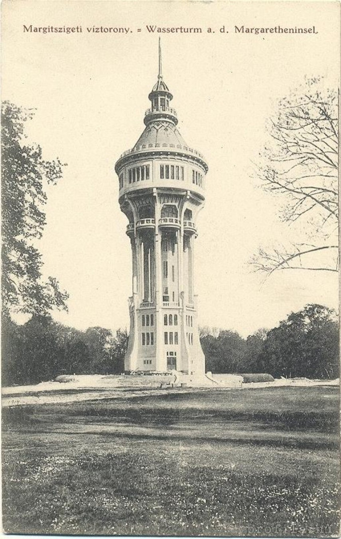 1910-es évek, a Margit-szigeti víztorony, 13. kerület