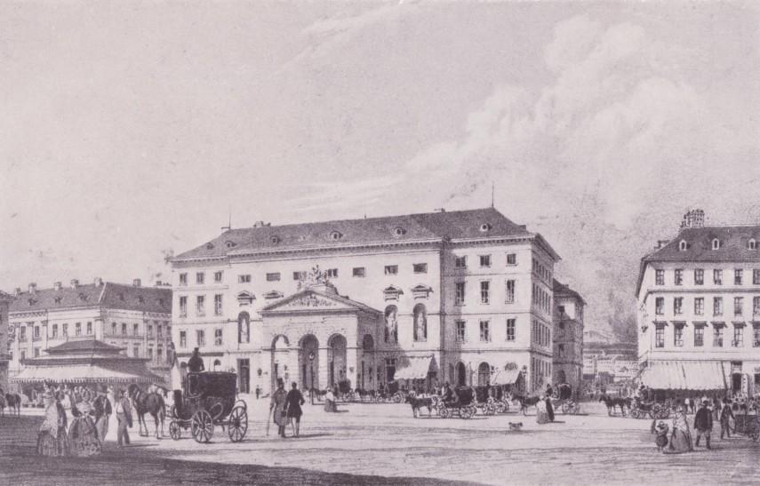 1845, Spazieren Platz (Séta tér), (Vörösmarty tér), 5. kerület