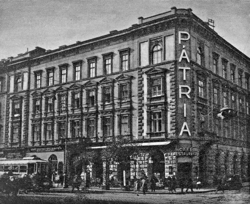 1934, Erzsébet körút, a Pátria kávéház, étterem, 7. kerület