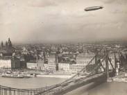 1931, Zeppelin az Erzsébet híd felett, 5. kerület